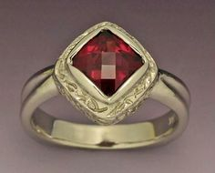 14kw gold ring with Rhodalite Garnet