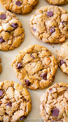 Flourless Chocolate Chip Cookies (Gluten Free #gf recipe!)