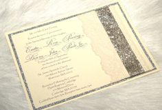 TATUM  Elegant  Bling Silver Glitter Lace by BridesofaFeather