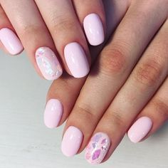Beautiful pink mani with broken glass design by @nail_kail try our #notsosweet for this look! #NCLA by shopncla