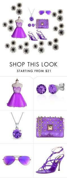 """for lovers of purple"" by fashionpolicecimrn80 on Polyvore featuring Belk & Co., Bling Jewelry, Hervê Guyel, Ray-Ban, Dolce&Gabbana and purple"