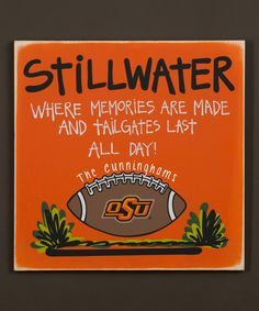 Look at this Oklahoma State Cowboys Personalized Tailgate Sign on #zulily today!