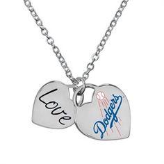 Los Angeles Dodgers LA Heart Necklace