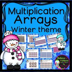 Multiplication Array Task Cards-Winter Theme (24 task cards)This is a colorful set of 24 task cards to practice writing equations to go with multiplication arrays with a winter theme! This set is a wonderful addition to your lessons!