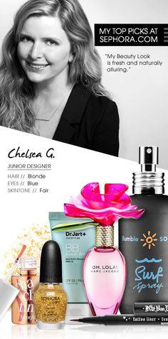 Chelsea G., Junior Designer. My top picks at Sephora.com. #Sephora #SephoraItLists