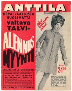 Anttilan tavaraluettelo vuodelta 1968: Devalvaatiosta huolimatta valtava talvialennusmyynti!