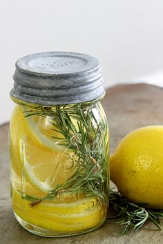 Learn how to make an all natural room scent with lemon, rosemary and vanilla…