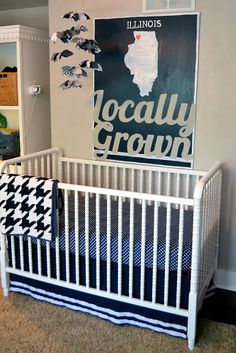 Great poster! Do this in MN! Preppy Vintage Boys Nursery - Design Dazzle  http://www.oniongrovemercantile.com/