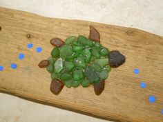 Sea glass Turtle on Driftwood By Tammie Moore