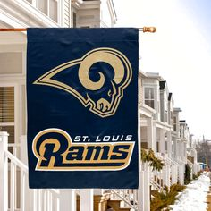 "Classic St. Louis Rams 29"" x 43"" Glitter Suede House Vertical Flag - $27.99"