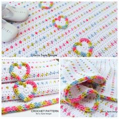 Love U Lots Like Jelly Tots ~ Colorful baby blanket by Kerry Jayne Designs, pattern not free #crochet