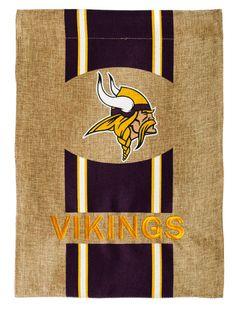Hot new product: Minnesota Vikings... Buy it now! http://www.757sc.com/products/minnesota-vikings-12-5x18-2-sided-embroidered-applique-burlap-garden-flag?utm_campaign=social_autopilot&utm_source=pin&utm_medium=pin