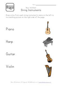string instruments worksheet