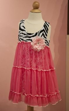 Vintage Zebra Summer Dress Preorder2T to 10 Years