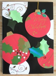 Recycling Christmas cards.