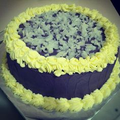 Our best selling cake. Ube macapuno cake.