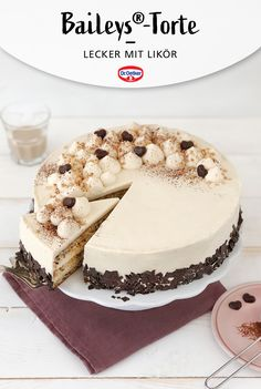 Baileys Torte, Vegan Baking, Glutenfree, Deserts, Birthday Cake, Sweets, Cakes, Cooking, Food