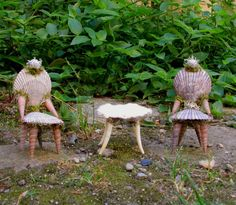 Fairy shell chairs. Diane Heyne's amazing artwork.