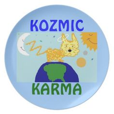 DOG n UNIVERSE KOZMIC KARMA Plate