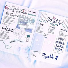 My August bullet journals ❀ + instagram +