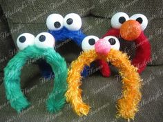 Sesame street headbands- I would do a wreath instead for the front door or as a game maybe