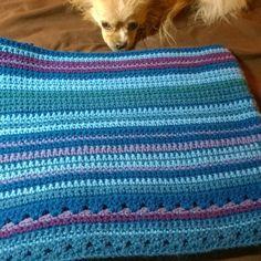 Here's a full shot of the current progress of my #temperatureafghan #temperatureblanket I think Abby approves #pomchi #Pomeranian #Chihuahua #dogsofIG #yarnlove #crochetlove #yarn #iloveyarn #yarnaddict #crochetaddict #crochet #crochetersofinstagram #madewithlove  #handmade #colorful #creative #instacrochet #crocheter #crocheting #crochetlover #crochetobsessed #crocheteveryday #crochetersofig #handmadeisbetter #instacrochet by jess.d_
