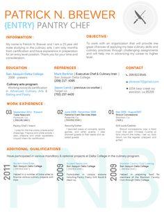 culinary resum