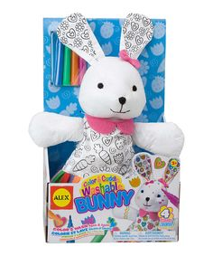 Look at this Color & Cuddle Washable Bunny Plush Toy on #zulily today!