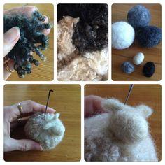 tova får Crafts To Make, Diy Crafts, Bra Hacks, Textiles, Some Ideas, Needle Felting, Wool Felt, Crochet Necklace, Knitting