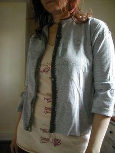 #crochet on old #tshirt!