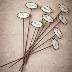 Herb Garden Markers - Set of 9