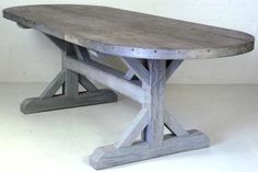 furniture poetic wanderlust- modern vintage table , Aged zinc top table     LLH DESIGNS: Zinc Top Dining Table