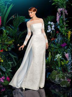 Moon Light - Collection Kookla project by Andrey Yakovlev and Lili Aleeva - Ego - AlterEgo Classy Wedding Dress, Wedding Wows, Minimalist Wedding Dresses, Beautiful Wedding Gowns, Modest Wedding Dresses, Stunning Dresses, Bridal Dresses, Striped Wedding, Moda Chic