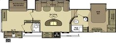Open Range Roamer 384BHS - Rear Bunkhouse with 2 Full Baths And Outside Kitchen Fifth Wheel
