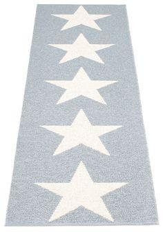 Pappelina Plastic rug Viggo Star, color: Greymetallic.