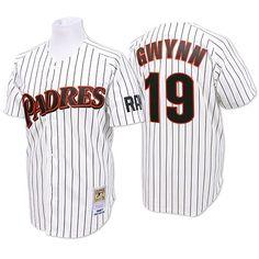 ca2ada210 Gwynn Mens Throwback Jersey - MLB San Diego Padres White Pinstripe White  Jersey