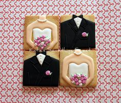 New Wedding Favor Cookies by Katie's Something Sweet, via Flickr