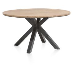 Colombo Round Dining Table (available In Or By Xooon Wooden Dining Tables, Dining Room Table, Wood Table, Dining Chairs, Ikea Bank, Round Bar Table, Laminated Fabric, Japanese Interior, Large Furniture