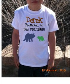 PersonalizedCute boys  shirt  Promoted to Big by DJammarMaternity, $14.99