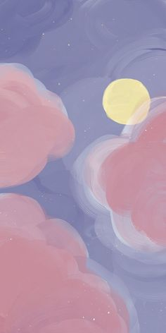 Cute Pastel Wallpaper, Cute Patterns Wallpaper, Cloud Wallpaper, Graphic Wallpaper, Aesthetic Pastel Wallpaper, Iphone Background Wallpaper, Kawaii Wallpaper, Painting Wallpaper, Cartoon Wallpaper