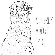 I otterly adore you - A5 print by Phieillustrates on Etsy