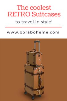 Lightweight vintage suitcases for your world travels! Vintage Suitcases, Only Fashion, Retro Design, Ethical Fashion, Vintage Looks, Travel Style, Fashion Inspiration, Passion, Group