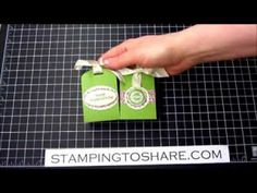 Scalloped Tag Topper Treat Holders with How To Video | Stamping to Share | Bloglovin'