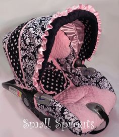 Custom Boutique Dandy Light Pink Minky Infant by smallsproutsbaby, $139.00