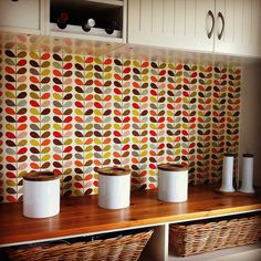 Orla Kiely in the kitchen. Divine for that modern country look.