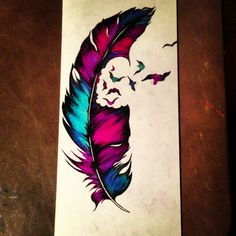 Ap feather colorpencil