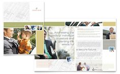 Investment Advisor Brochure Template Design by StockLayouts