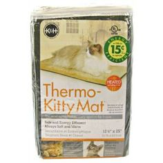 """K&H Pet Products Thermo-Kitty Mat - 12.5"""" x 25"""" x .5"""" Heated Cat Beds $28.99"""