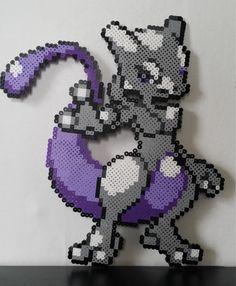 MEWTWO Pokemon Perler Beads Sprite by PokemonPerlersPlus on Etsy