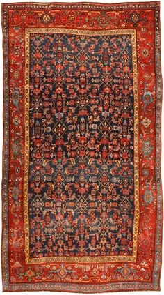 Antique Bidjar Persian Rug 41997 Main Image - By Nazmiyal